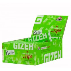 Box 26x Gizeh King Size Slim Super Fine 34 Blatt inkl. Tips