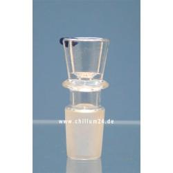 Glassteckkopf Zylinder 18,8er