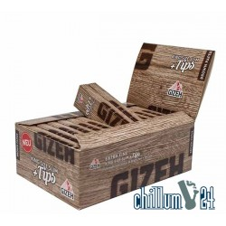 Box 26x Gizeh Brown King Size Slim 34 Blatt inkl. Tips
