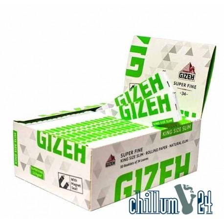 Box 50x Gizeh King Size Slim Super Fine 34 Blatt