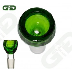 Grace Glass Glassiebkopf Diamond Green 18.8