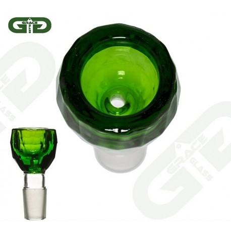 Grace Glass Glassiebkopf Diamond Green 18.8