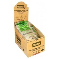 Box mit 20x Greengo Biodegradable Slim Filtertips ø 6mm, 200 Stück im Beutel