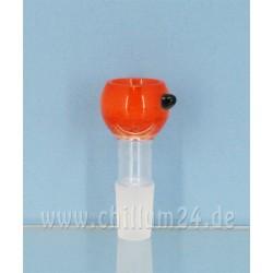Glassteckkopf Sieb Heavy Orange
