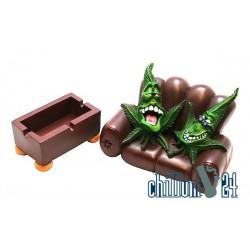 CannaBuds Aschenbecher Leaf Couch 2-Sitzer