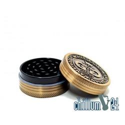 Grace Glass Amsterdam Metallgrinder 2-teilig 50mm Antik Gold