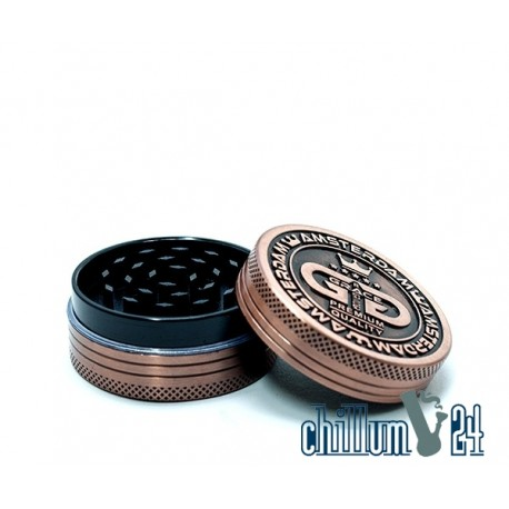 Grace Glass Amsterdam Metallgrinder 2-teilig 50mm Antik Copper