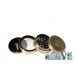 Amsterdam Metallgrinder 4-teilig 62mm Antik Gold