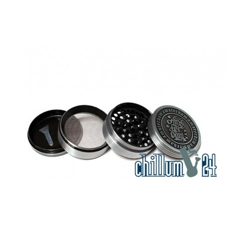 Amsterdam Metallgrinder 4-teilig 62mm Antik Silver