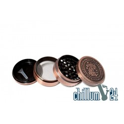 Amsterdam Metallgrinder 4-teilig 62mm Antik Copper