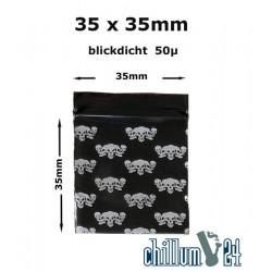 BAGGIES Totenköpfe 35x35mm ca.100 Stück