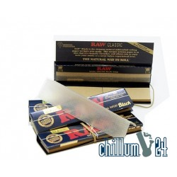 Raw Black King Size Slim 32 Papers inkl. Tips