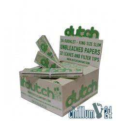 Box 24x Dutch Organic King Size Slim Unbleached 32 Blatt inkl. Tips