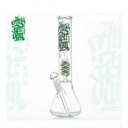 Amsterdam Glass Bong Beaker Spiral-Perc ICE Green