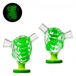 Grace Glass Mini Bubbler Desert Storm Green Scorpio